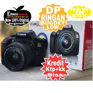 Canon EOS 1300D Kit18-55mm IS II Cash/kredit Dp 500rb ditoko ktp+kk Call/wa;081905288895
