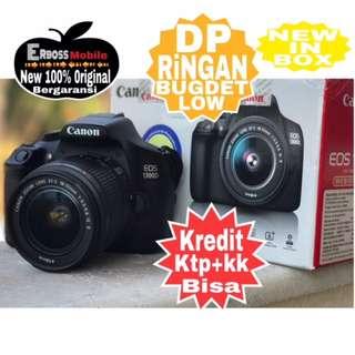 Canon EOS 1300D Kit18-55mm IS II Cash/kredit Dp 500rb ditoko ktp+kk Call/wa;081905288895