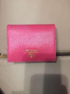 Prada Wallet 銀包 桃紅色 有散紙包 正品