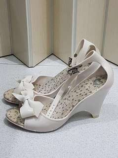 Mel Shoes by Melissa Apple Ribbon Bow White Wedges