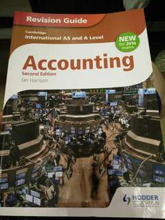 🚚 Accounting Cambridge international AS and A level revision guide