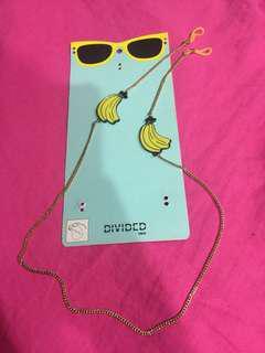 🚚 H&M 香蕉🍌眼鏡吊飾掛飾項鍊