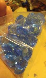 精美藍色裝飾品一袋