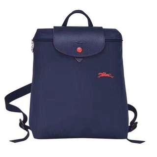 法國巴黎 Longchamp  彩色皮革鈕扣後背包-多色 28*31*11