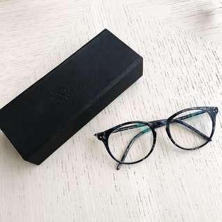 🚚 GLASENSE 玳瑁藍平光眼鏡