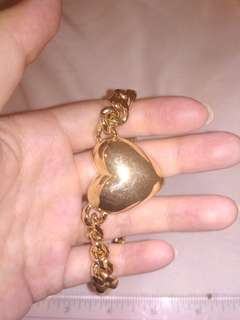 Gold heart necklace chain