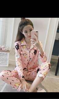 Line designed pyjamas - confinement