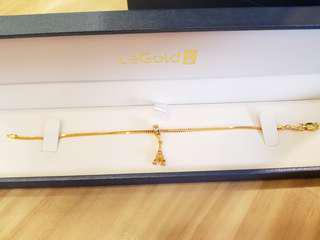 Brand New Gold Bracelet and Gold Eiffel Tower Pendant/Charm