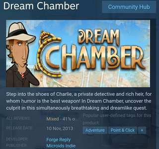 [Clearance Sale] Steam Dream Chamber Game