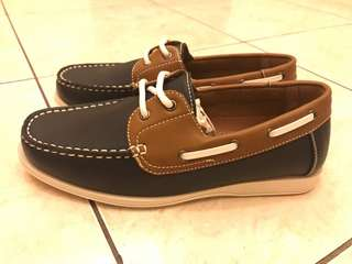 Casual Faux Leather Boat Shoes