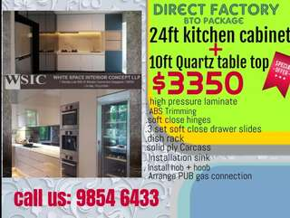 BTO kitchen cabinet direct factory $100pfr