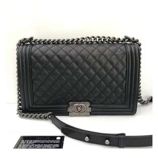 Authentic Chanel Boy 28cm Flap Bag
