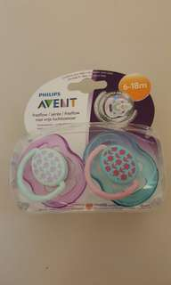 2 Avent 6-18 months Pacifiers