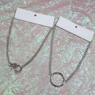圓環釦鐵鍊項鍊/圓環鐵鍊項鍊