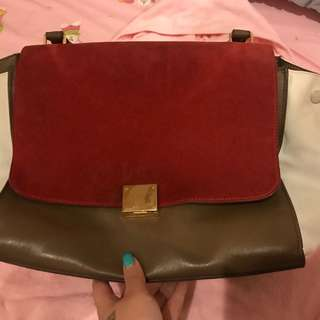 Celine tricolor trapeze (bag only)