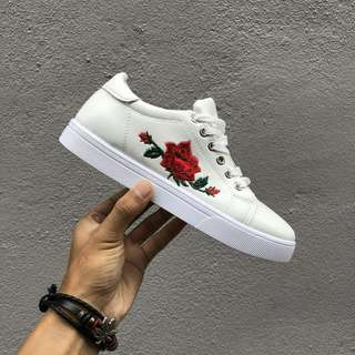 Korean Fashion Flower Red