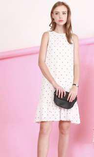 BNWT White & Dots Dress