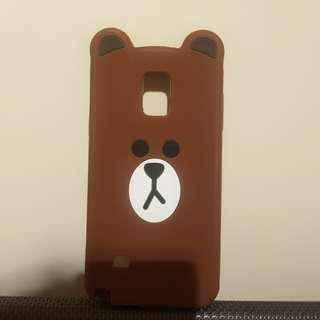 Line Brown Samsung Galaxy Note 4 Phone Case
