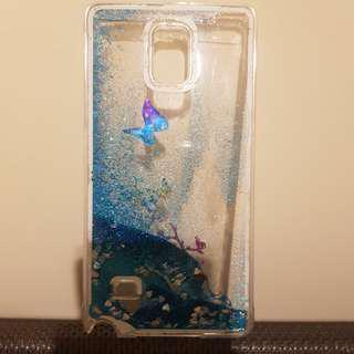 Galaxy Note 4 Water Glitter Butterfly Hard Phone Case