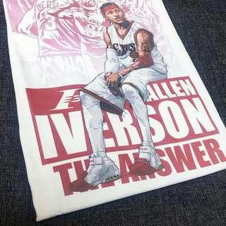 經典NBA球星 T Shirt Allen Iverson AI 短袖 tee