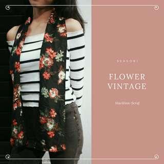 Scarf flower vintage