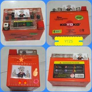 0507**---KOYOKO MOTORBIKE BATTERY *** 👌👌 YAMAHA 135 JUPITER, SNIPER 150, HONDA, RKX, FZ16, ETC...