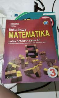 [CLEARANCE SALE] Buku Matematika SMA KELAS 12