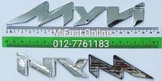 Perodua Emblem Logo Word Alza,Myvi,Elite,SE