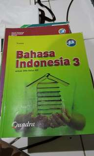 [CLEARANCE SALE] BUKU PAKET BAHASA INDONESIA KELAS 12 K13