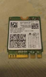 Intel M.2 NGFF Wireless LAN + 藍芽天線卡