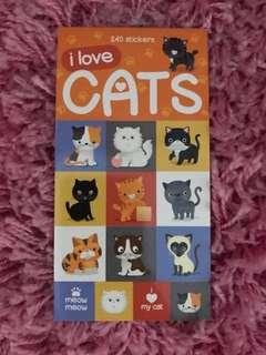 240 Mini Stickers < I Love Cats >
