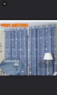 (4件/4pieces) 窗簾臥室遮光布料客廳掛鈎款1.5*2.25m (homeone系列) (家居) (包Buyup自取) (#rep#) (60% black-out window curtain hook style)
