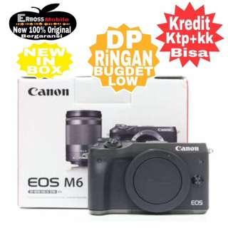 Canon EOS M6 BODY Resmi-Cash/kredit DP 1jt ditoko ktp+kk call/wa;081905288895