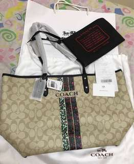 100% Authentic Coach reversible Tote Bag