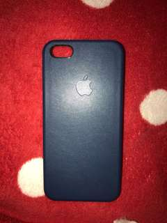 [PRELOVED] Leather Case IP5s Navy LIKE NEW