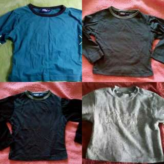 BN Long Sleeves Tee and Top for 6 mths to 18 mths