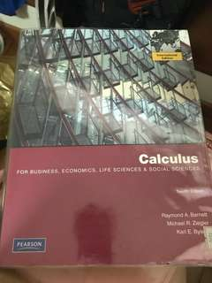 Calculus textbook for business , economics , life sciences and social sciences