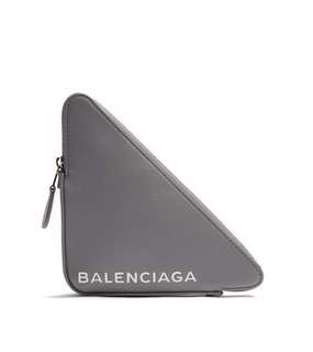 Balenciaga triangle pouchette S in grey