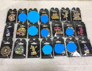 絕版迪士Disney pins徽章襟章珍藏(大量)