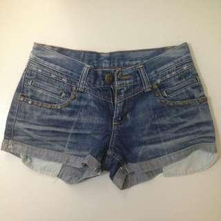 Blue blue denim shorts