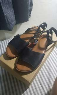 Charles & Keith - black gladiator sandals - (apa adanya)