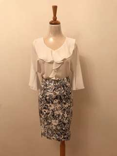 Korean top & skirt 韓國斯文上衣及半身裙