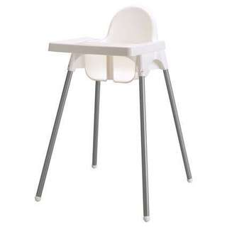 USED Ikea Antilop Baby High Chair With Tray Training Eating Feeding Weaning