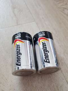 30% OFF!! Energizer Alkaline Battery Max BRAND NEW - Size D
