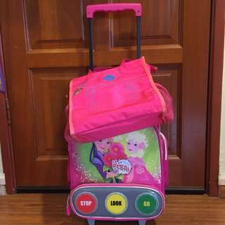 Swan Trolley Bag & Tuition Bag (COD only)