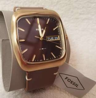 Excellent Preloved Authentic Fossil Men's Watch Rutherford with replacement box