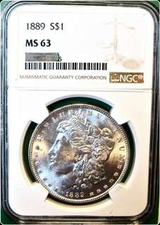1889 Morgan Dollar MS63