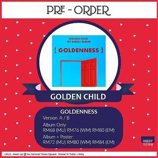 (PRE-ORDER) GOLDEN CHILD - GOLDENNESS