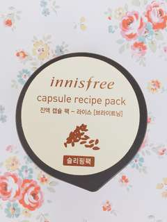 Innisfree Capsule Recipe Pack (Rice)