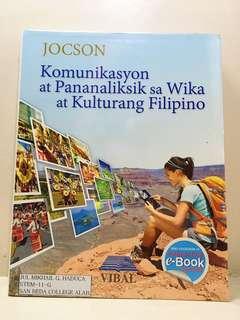 Komunikasyon at Pananaliksik (Filipino) Book